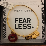 """Alex and Ani Fear. Less. Bracelet<span class=""""DONATED_BY"""">Donated By: Friend of CTK</span>"""