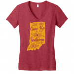 """""""She Grew Up In An Indiana Town"""" Vintage T-Shirt<span class=""""DONATED_BY"""">Donated By: Tribe and Trade</span>"""